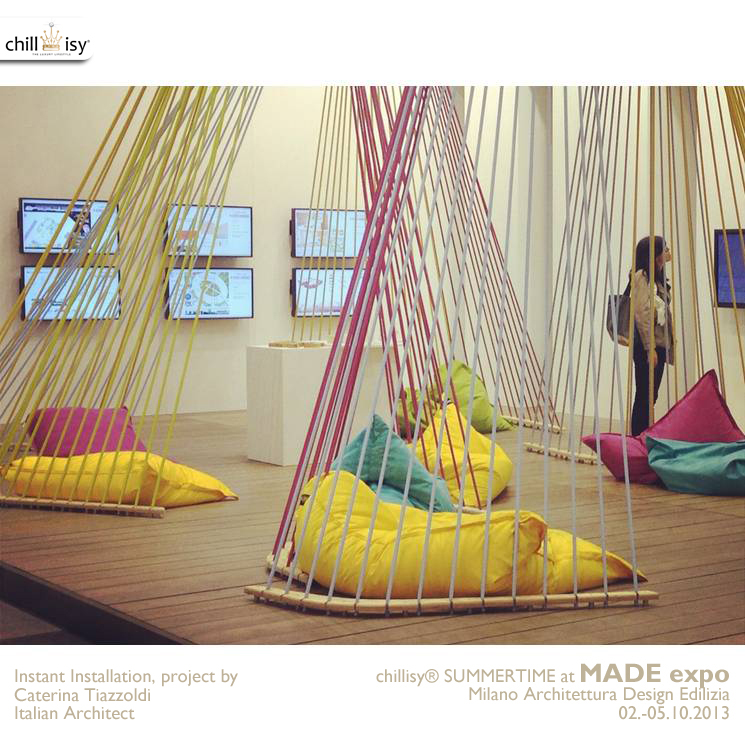 MADE expo 2013 Milano: chillisy® SUMMERTIME & Instant Installation von Caterina Tiazzoldi (Italienische Architektin)