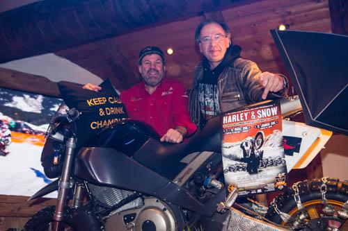 2015 Top-of-the-Mountains- Niki Ganahl und Knuth Jung - Promotion für Harley & Snow am 30. und 31. Januar 2015 in Ischgl! Unbedingt dabei sein - es lohnt sich!
