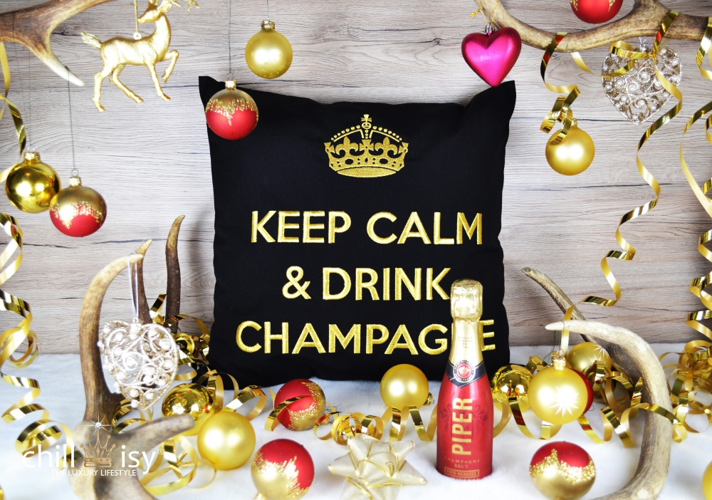 chillisy® Keep Calm & Drink Champagne Weihnachts-Edition