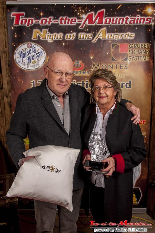 2015 - Top-of-the-Mountains Lifetime Award: Christian Aigner Senior Christian Aigner Senior mit Gattin Maxi
