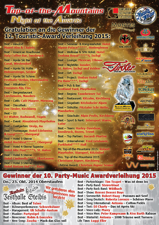 2015 Top-of-the-Mountains Gala Nacht