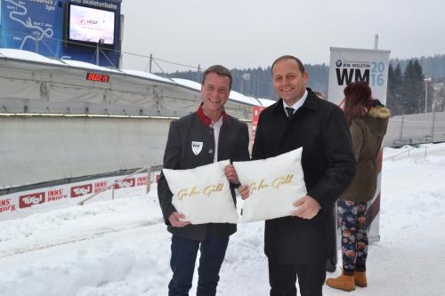 """GO FOR GOLD"" - v.l.n.r. Innsbrucker Vizebürgermeister Christoph Kaufmann mit Landeshauptmann-Stellvertreter Josef Geisler"
