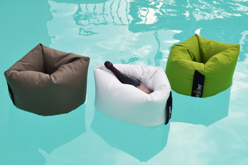 Pool James II, Poolkissen, chillisy, waterproof, whirlpool, pool, champagne belt, champagner, dom perignon rose, made in germany, outdoor, Getränkekühler, Cooler, taupe, braun, weiss, grün, lime
