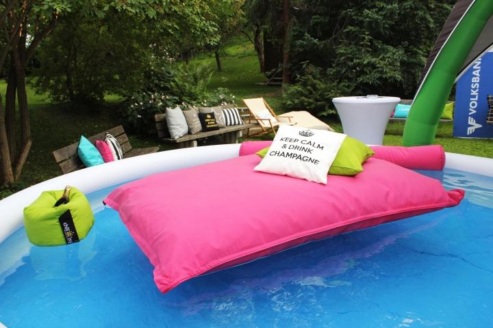 Junge Wirtschaft, Sommercocktail 2015, Landeck: chillisy Poolkissen