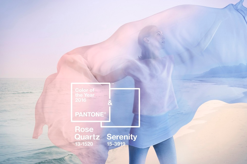 Pantone® Farbe 2016: Rose Quartz & Serenity, Rosa & Hellblau, Farbe des Jahres, Pastell