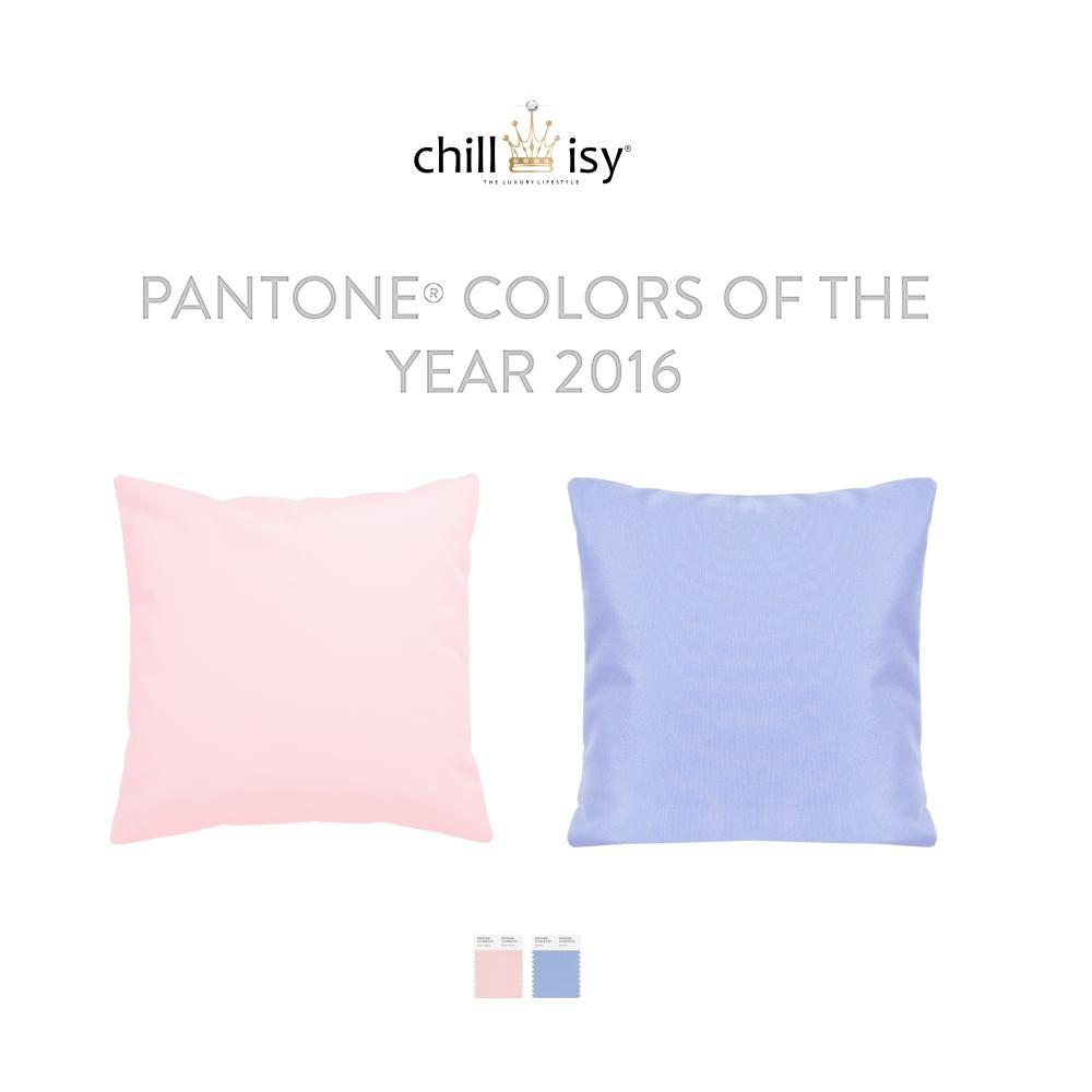 chillisy Outdoor Kissen Pantone® 2016: Balance und Harmonie – die neuen Farben Rose Quartz und Serenity sagen mehr als tausend Worte. Rosa und Blau, was für eine Harmonie.