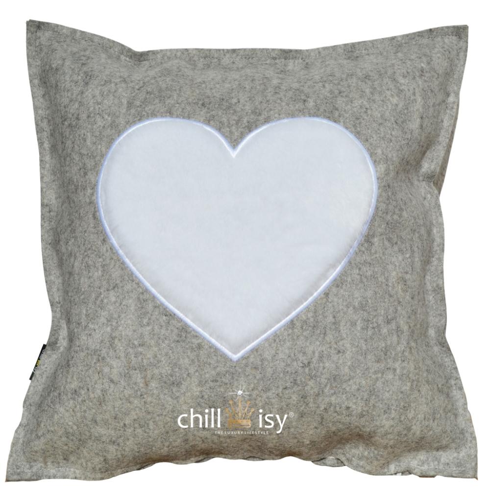 Das wärmt das Herz: Wollfilz Kissen von chillisy®