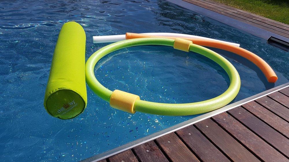 Die Schwimmnudel Tester Roland Berghöfer - Wien - Super Maccheroni im Vergleich