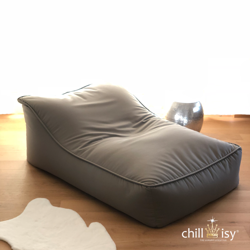 chillisy lounge chair taupe long version 2