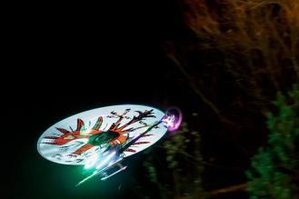 Günther Gold's Hubschrauber in the air