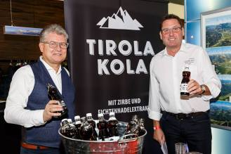 Top-of-the-Mountains Touristic-Award-Verleihung 2019 in Biberwier, Hotel MyTirol in der Tiroler Zugspitz Arena, SPONSOR TIROLA KOLA